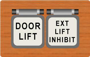 key selected DOOR LIFT and EXT.