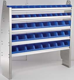 of 6221 bins. Can be mounted on top of drawers or on the floor of van.
