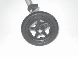 Worn-out or damaged wheels must be replaced. Children instinctively tend to fall backwards.