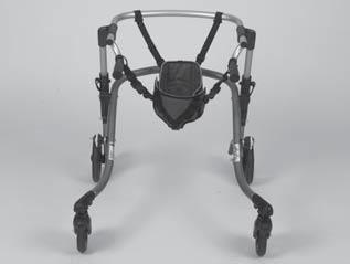The seat is located in the upright position while walking and simply folded down for use. 33 34 5.8 Sling Seat Risk of falling caused by overload.