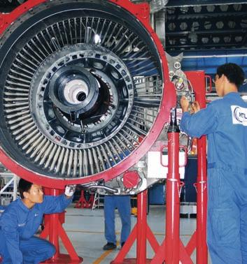 MTU Maintenance Zhuhai technicians were trained also at MTU Maintenance Canada, where the CFM56-3 is overhauled.