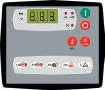 Valid for KSA 37-45 and KSV 30-45 Air Basic 2 control unit This electronic control unit is easy to use and allows the compressor to be fully managed.