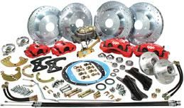 ".. 599.99 set Disc Brake Conversion Sets with Power Brake Kit With 9"" Power Brake Booster BK2032 1968-74 plain rotors, rubber hoses... 579.99 set BK2032D 1968-74 drilled rotors, stainless steel hoses."