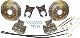 10 and 12 Bolt Rear Disc Brake Conversion Sets Simple Install Conversion set comes with calipers, rotors, mounting brackets, parking brake cables and all required hardware for installation.