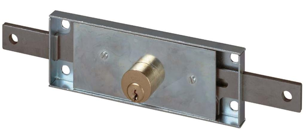 CYLINDER RIM LOCKS FOR GATES AND UP-AND-OVER DOORS Technical Features Zinc