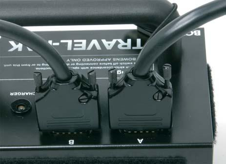 A single Esprit Gemini unit can be fitted to either channel A or B with the Travel-Pak cable. Please ensure that the dummy socket is fitted to the unused socket.