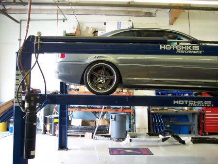 INSTALLATION OF HOTCHKIS REAR SWAY BAR 1) Drive the rear of the vehicle onto floor ramps and securely block the front wheels of the vehicle.
