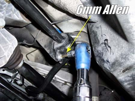 4) Remove the stock bushing brackets on both the driver and passenger sides.