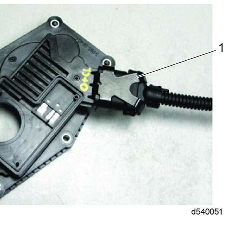 terminals. Connect the electrical connection to the ITV and install retainer clip. See Figure 23. 1. Retaining Clip Figure 23 Retaining Clip 7.