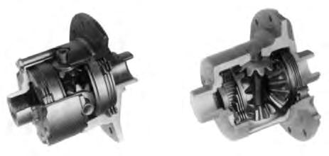 The Spicer Limited Slip differential has the same power flow as a conventional differential, plus a more direct flow which automatically takes effect as driving conditions demand.
