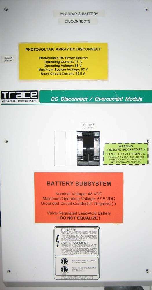 Battery Disconnects A disconnecting means must be provided for all ungrounded battery circuit conductors [690.15, 480.5].