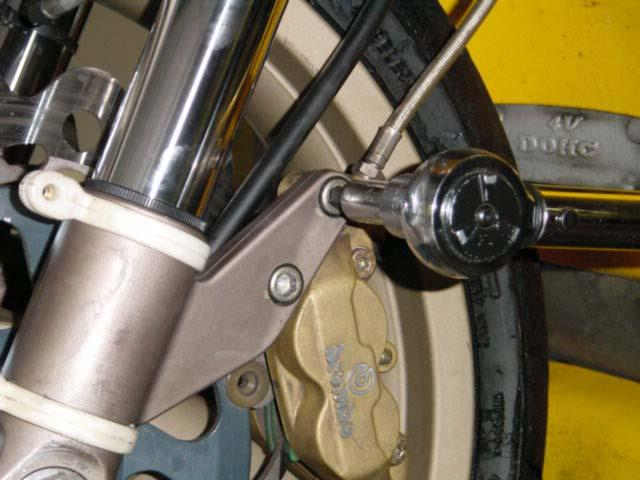 Replace front calipers and, using an 8mm hex wrench, torque the caliper mounting bolts to 43 Nm