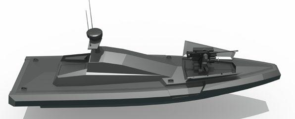The boat suits harbor approach defense, including patrolling and repulsion of enemy maritime threats. The OPH-USV allows performing patrol missions autonomously.