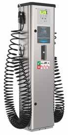 New high performance slow retract hose reels on standard cabinets Alternative tyre valve connectors available for all units (short-stem twin hold-on as standard) Nayax card payment system option