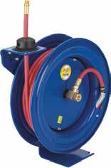 OUTLET SIZE HRA1B03 15 10 mm / 3/8 in 250 psi / 17 bar Rp 1/4 R 1/4 This reel is the next level in industrial standard PVC bench top spring driven hose reels, ideal for use over workbenches, around