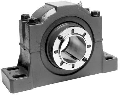 1-1/8 to 4 4 bolt pillow blocks in sizes 2-3/8 to 5 Jackscrew holes standard on piloted flanges NOTE: Instruction manuals for Dodge bearings available on www.dodge-pt.