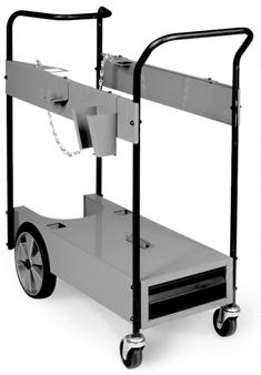 Running Gear/Cylinder Rack #0 Has adjustable handles and is slanted for convenient access to power source front panel controls. Carries two 10 lb (.