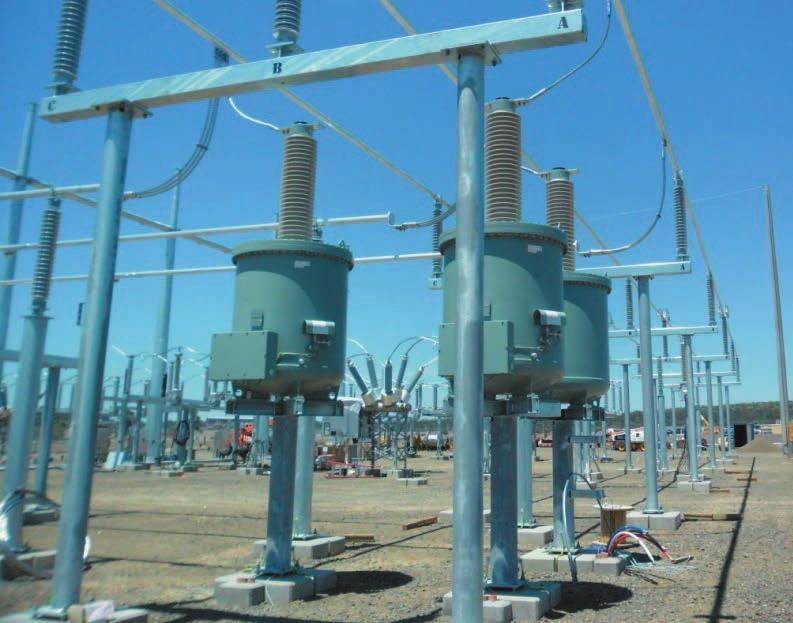 Applications Auxiliary power supply for substations Auxiliary power for substations is mostly supplied over a tertiary winding of the power transformer.