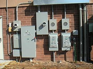 Most branch circuit type breakers have an interrupting rating of 10,000 amps. This means the circuit breaker can withstand that much fault current without causing an explosion.