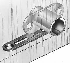 Pushing in cylinder locks doors, with or without key; 45 key rotation allows cylinder to pop back out to unlock doors. Lock throw length is 5/16.