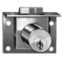 pin tumbler cam & springbolt locks Applications: Bore hole requirement Springbolt Lock For Drawers Surface Mounted Requires 57/64 diameter hole