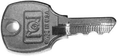 Key required to engage lock and is removable in both locked and unlocked positions.