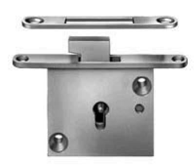 Safety feature requiring operation of pushbutton to lock or latch lid closed. Includes: Lock, one key, strike, and mounting screws. Packing: 25 each per box.