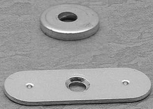 specialty MAGNETIC CATCHES Strike Plates Galvanized steel strike plates for use with magnetic push/touch latches. Zinc finish. Recommended screw is WW40205, (screws not included).