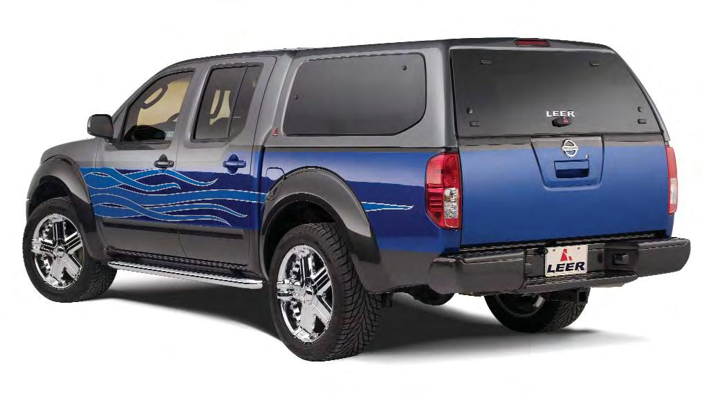 100XL Sleek SUV style with frameless tinted side windows with twist- 100XL Titan Crew Cab More trucks are driven to adventure