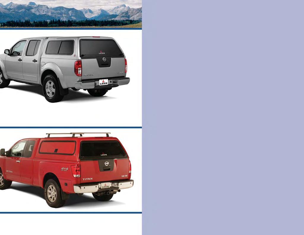 100R 0RCC The commercial version of our 100R is a secure workshop. The 100RCC is reinforced for LEER commercial roof racks, offers an optional fiberglass side door, tool box options and more.