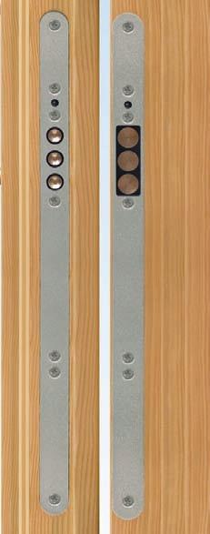 stainless steel faceplate with radius ends for easy installation and cleaner look 03 5 9-C4793-XX-0-8B Assembled
