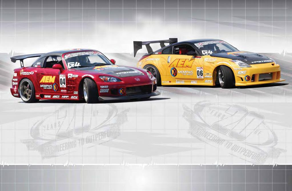AEM RACING AEM RACING 2006 DRIFT S2000 2006 DRIFT S2000 AND DRIFT 350Z Drifting originated in Japan and is considered by many who have competed in the sport as the ultimate exhibition of vehicle set