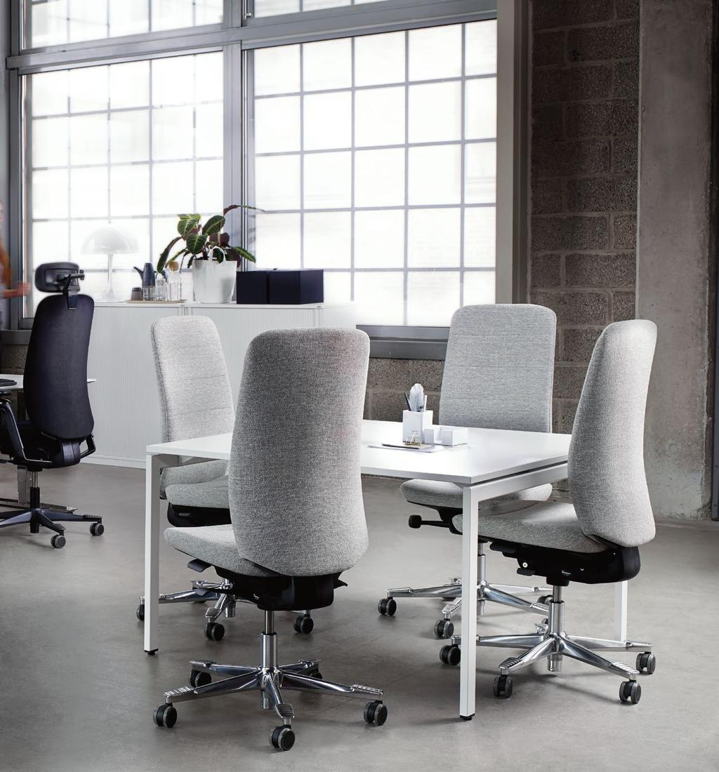 Capella 15 FOR A CREATIVE CLIMATE With its pure design, Capella suits many different types of working environments.
