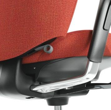 SEAT DEPTH The seat depth can be adjusted in relation to the chair back to give the best possible seating position and support for your legs and thighs.