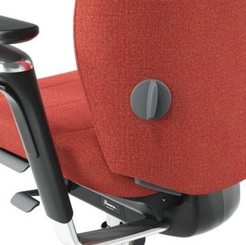 It is important to set the chair back height so that your lumbar back area is properly supported.