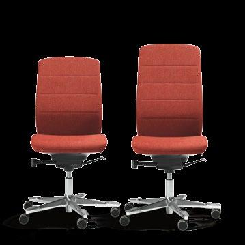 20 Capella FUNCTIONS & OPTIONS CHAIR TILT RESISTANCE The round lever allows you to