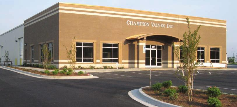 EXCEPTIONAL QUALITY, SERVICE & RELIABILITY Champion Valves, Inc. P.O. Box 12901 Wilmington, N.C. 28405 USA phone: 910.