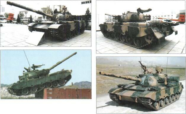LIGHT TANKS AND MAIN BATTLE TANKS Top: Type 80 MBT Above: