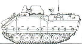 Daewoo Korean Infantry Fighting Vehicle (South Korea) KEY RECOGNITION FEATURES Well sloped glacis plate with trim vane, driver front left, commander's cupola with external 7.