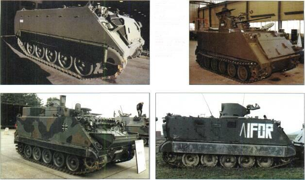 TRACKED APCs /WEAPONS CARRIERS Left: M113A3 ARC without add on armour Right: Norwegian NM135 APC with 20mm cannon