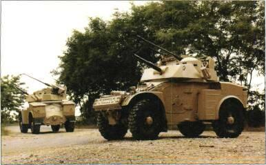 installed. South African-built vehicle is known as Eland and ran through to Mk 7 in two basic versions: Eland 60 with 60mm mortar and 7.62mm MG and Eland 90 with 90mm gun and 7.62mm coaxial MG.