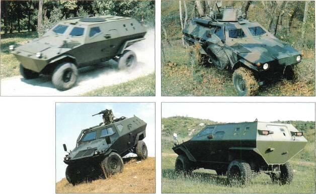 4x4 VEHICLES Above: Otokar Cobra APC without armament Right: Otokar Cobra APC with external 12.