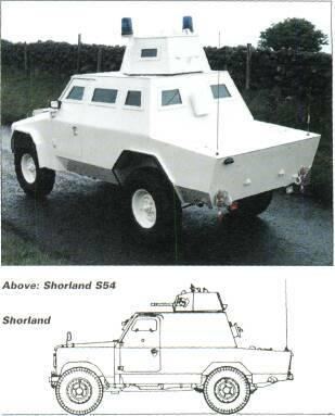 4x4 VEHICLES aleft: Shorland S52 Right: Shorland S52 The Shorland was originally manufactured by Shorts in Northern Ireland but all future production will be undertaken by Tenix Defence Systems in