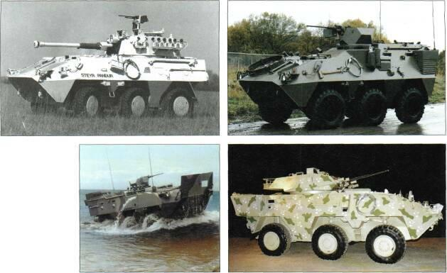6x6 VEHICLES Above: Pandur with 9Omm turret Right: Amphibious