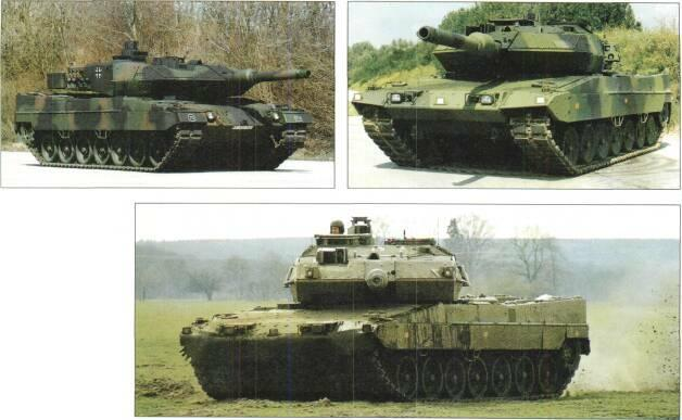 LIGHT TANKS AND MAIN BATTLE TANKS Above: Leopard 2 Improved (Leopard 2A5) of German Army Above right: Leopard 2 Improved (Strv