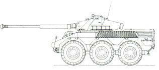 Renault VBC 90 Armoured Car (France) KEY RECOGNITION FEATURES Very high hull with sloping glacis plate, driver sits front left, three bullet-proof windows, horizontal hull top, turret centre,