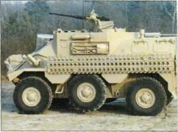 Panhard VCR APC (France) KEY RECOGNITION FEATURES Glacis plate at about 45 with driver's hatch in upper part, step up to hull roof which extends to vertical hull rear with large door opening right