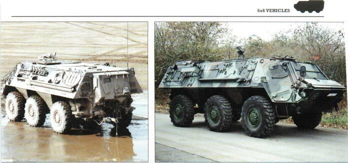 carrier, ambulance, cargo carrier, recovery or maintenance vehicle and infantry fighting vehicle with various types of weapon stations and firing ports/vision blocks.