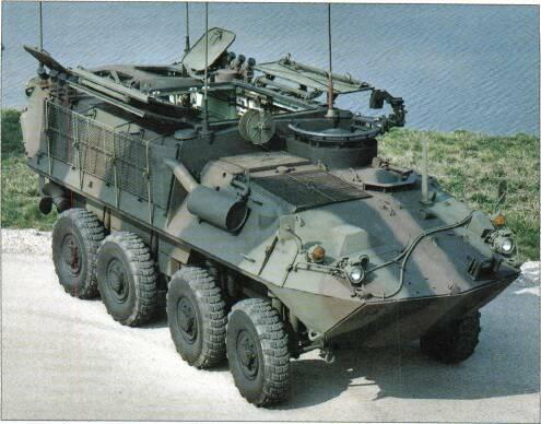 8x8 VEHICLES VARIANTS The Canadian Armed Forces order comprises 149 APCs, 18 command post vehicles, 16 81mm mortar carriers and 16 maintenance and repair vehicles that are fitted with a hydraulic