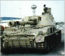 M1973 (2S3) with ordnance in travelling lock (Christopher F Foss) Left: 152mm selfpropelled gun/selfpropelled gun